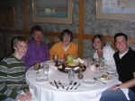 [ Dinner at The Tillerman: Me, Dad, Colin, Kathryn and Scott ]